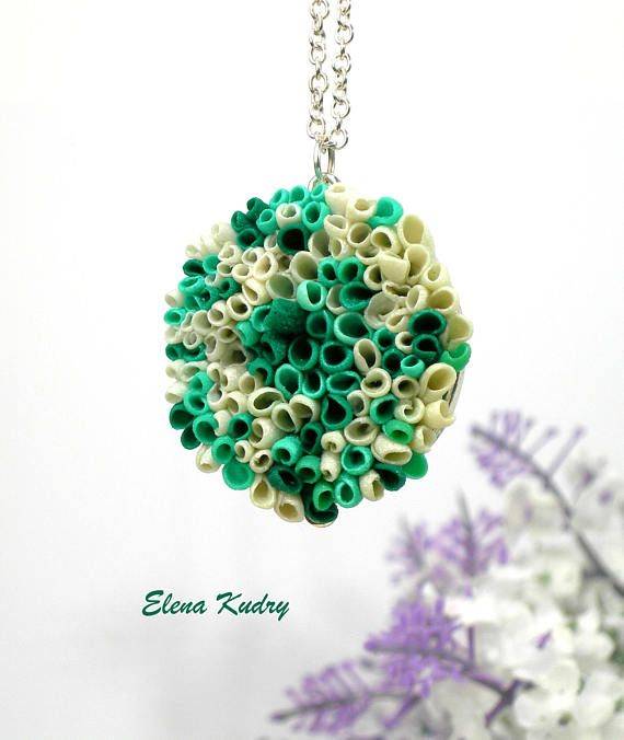 Green christmas pendant necklace unusual pendant christmas jewelry green christmas pendant necklace unusual pendant christmas jewelry made from polymer clay aloadofball Image collections