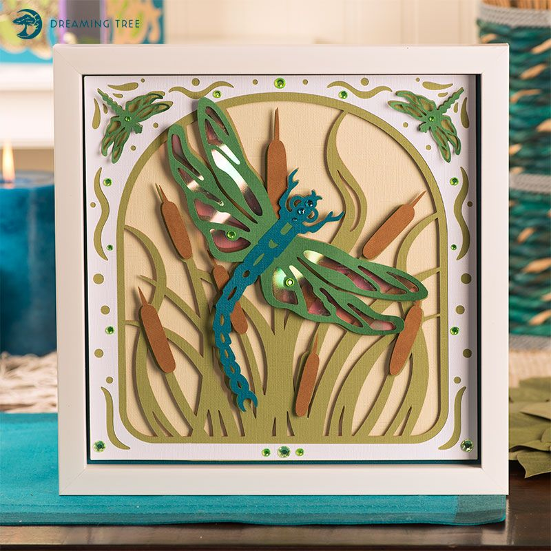 Dragonfly Paper Sculpture SVG Wall art crafts, Cricut