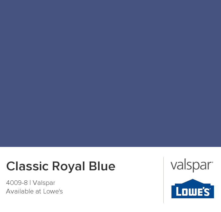 Classic Royal Blue From Valspar For Front Door Home Pinterest