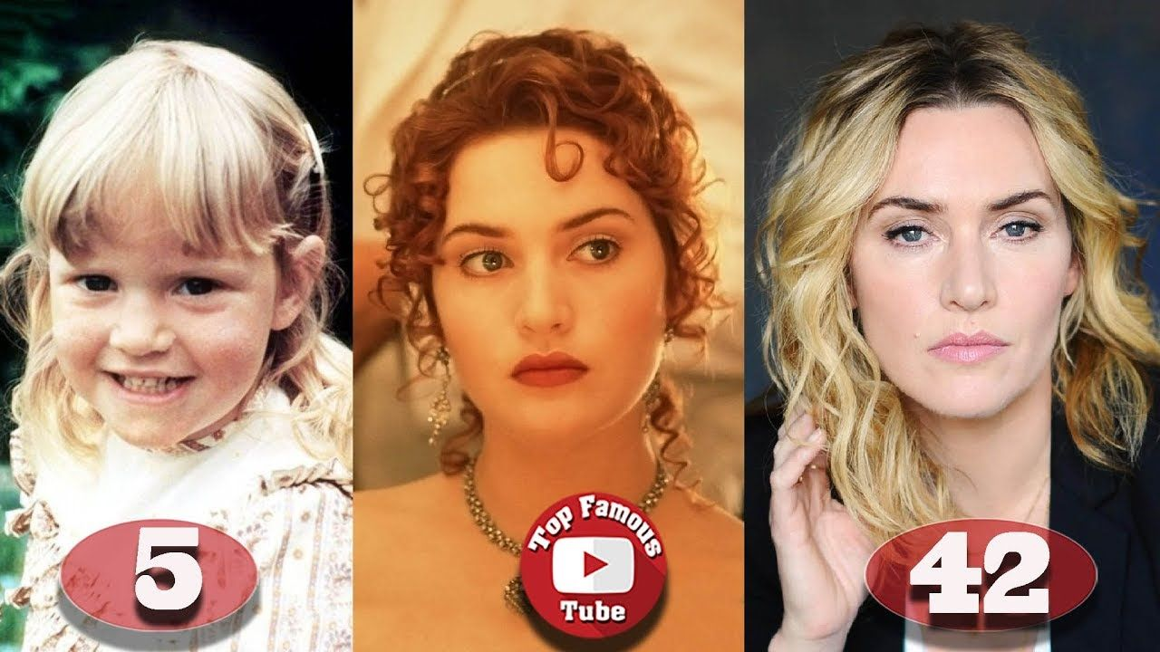 Kate Winslet Titanic Transformation From 5 To 42 Years Old Kate Winslet Kate Winslet Age Popular Actresses