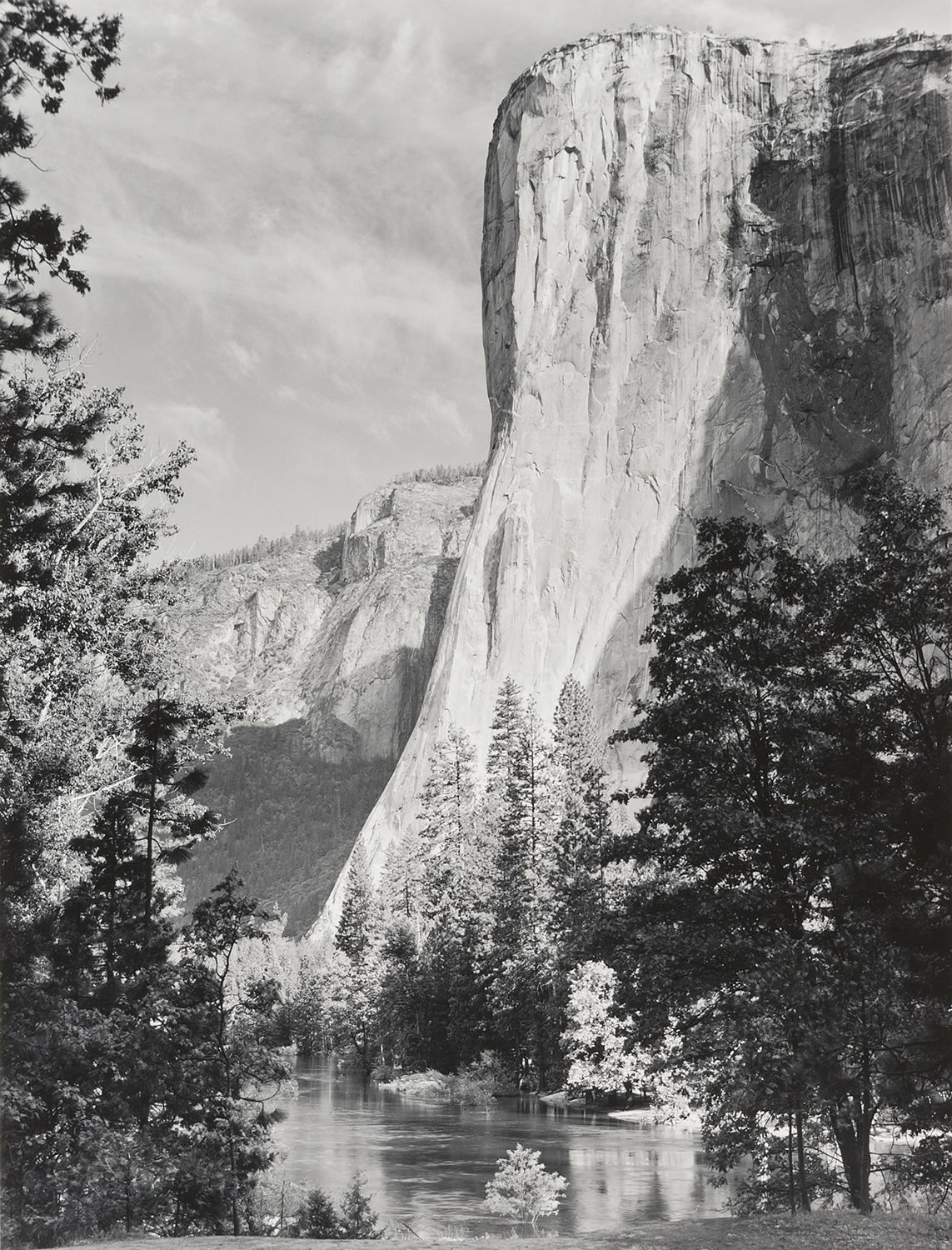 Art print POSTER Contact sheet for Moon over Half Dome by Ansel Adams