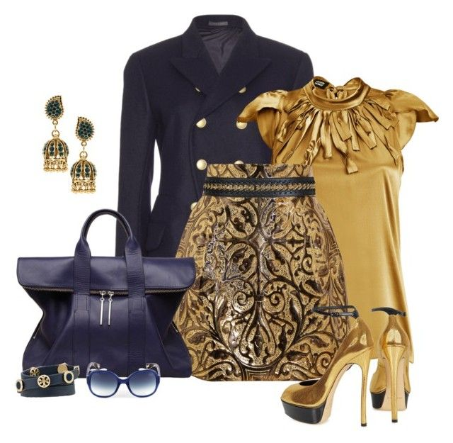 """Golden Heart!"" by sherri-2locos ❤ liked on Polyvore featuring Jil Sander, Steffen Schraut, Dolce&Gabbana, Casadei, 3.1 Phillip Lim, Miss Selfridge, ASOS, Lanvin and Tory Burch"