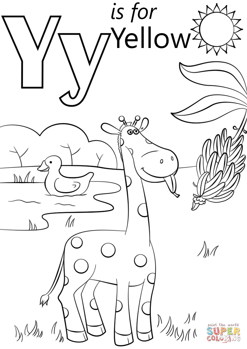Letter Y Is For Yellow Coloring Page Free Printable Coloring Pages Preschool Coloring Pages Free Printable Coloring Pages Letter Y Crafts