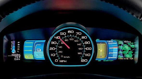 Dashboard Of My Cur Car The 2010 Ford Fusion Hybrid