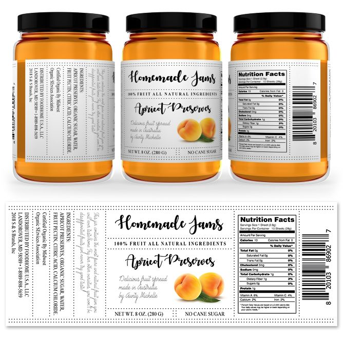 Apricot Jam Label Template http\/\/wwwdlayouts\/template\/1048 - ingredient label template