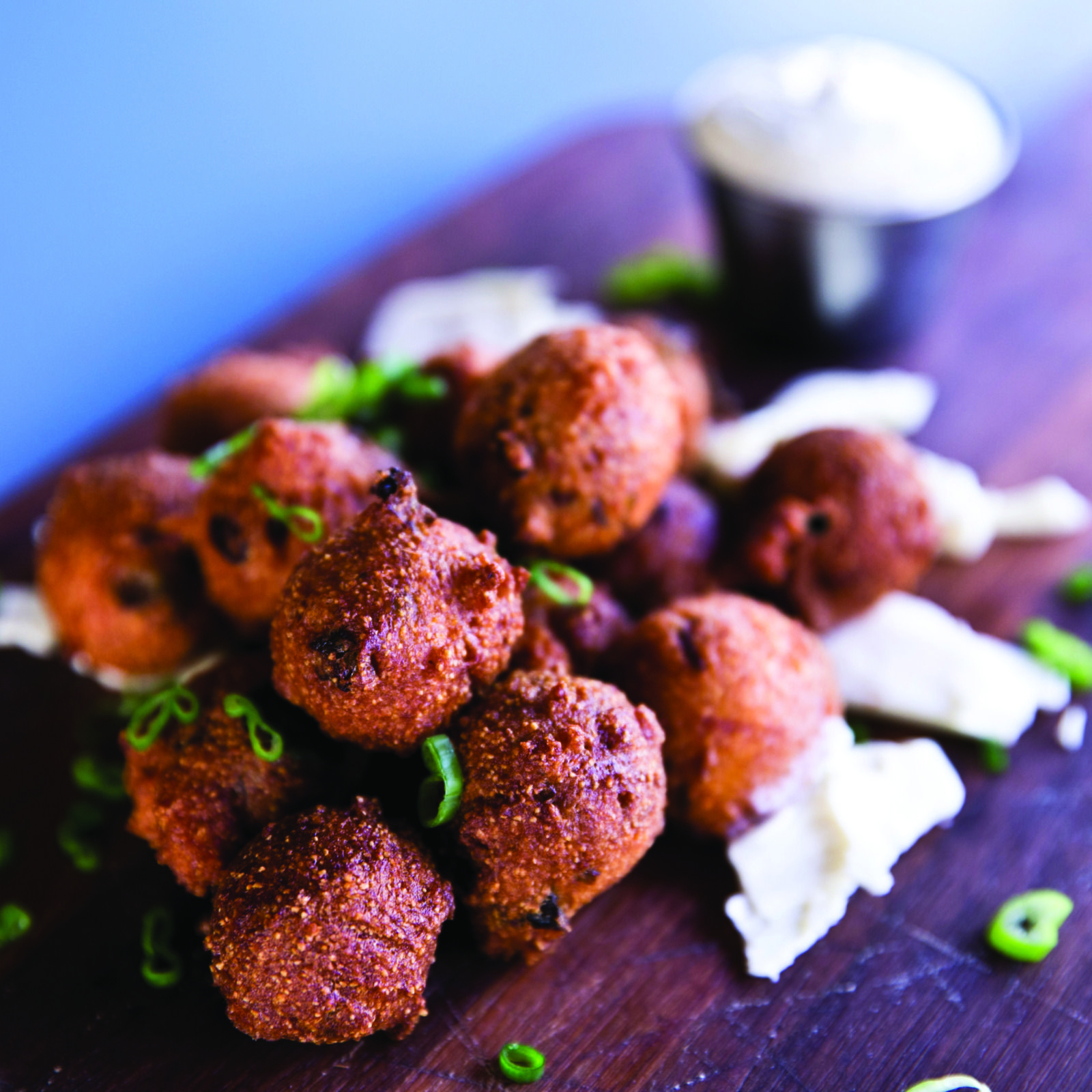 The Local Palate High Hat's Hushpuppies Fried butter