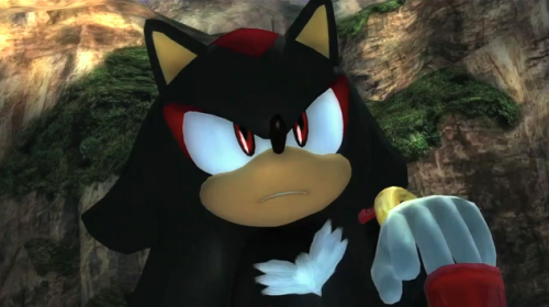 What ever he does, whatever pose he's in, whatever facial expression he pulls, Shadow always looks like a badass.