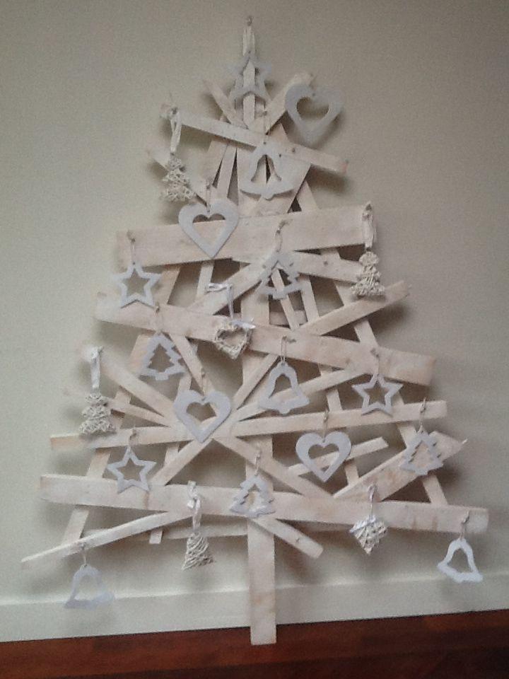 Kerstboom Van Douglas Hout Wit Kerstmis Kerst Kerst Ideeen En