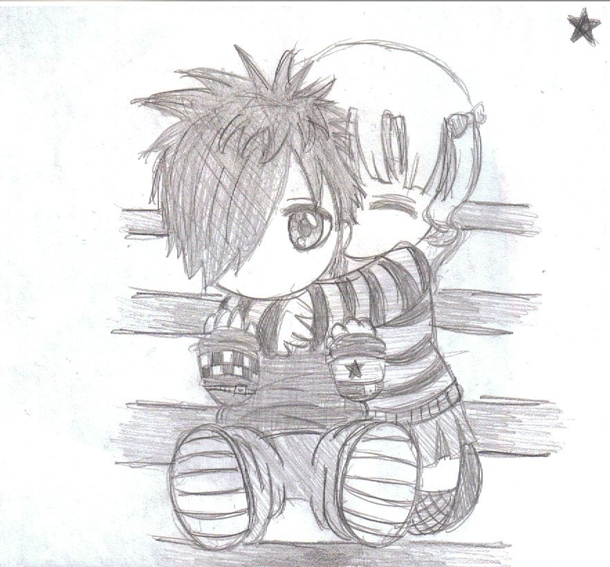 Easy emo love drawings in pencil emo