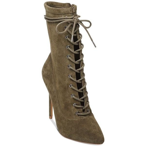 9078495ac1c7 Steve Madden Women s Satisfied Lace-Up Stiletto Booties ( 129) ❤ liked on  Polyvore featuring shoes