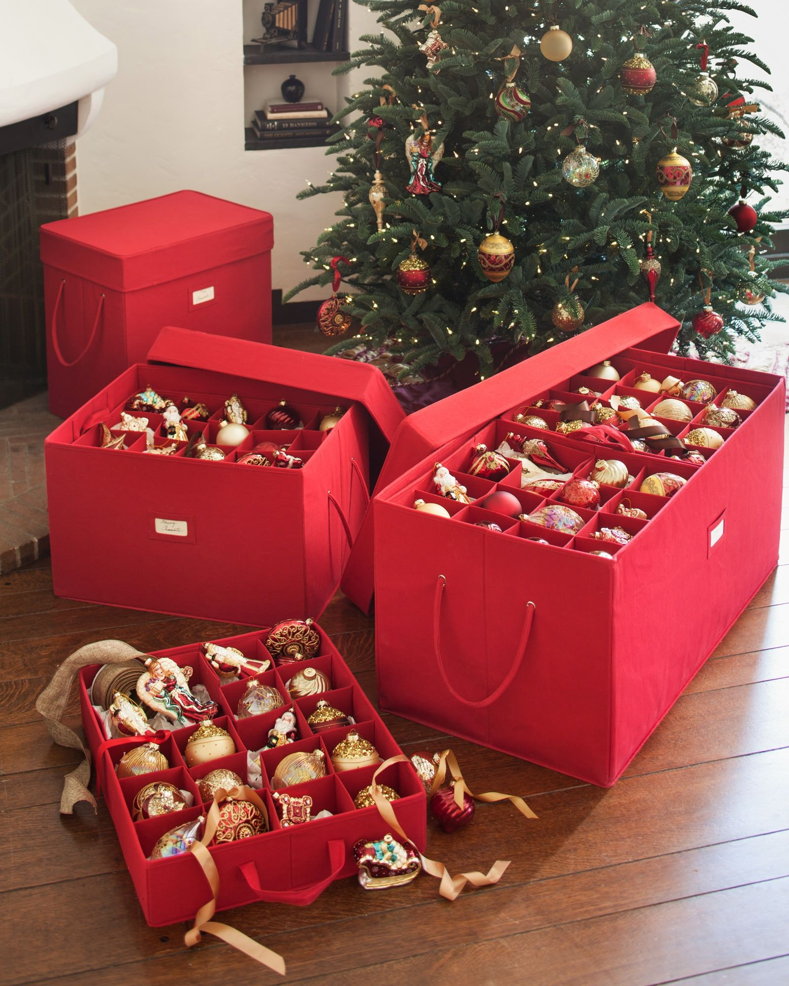 christmas ornament storage box balsam hill - Christmas Decoration Storage Box