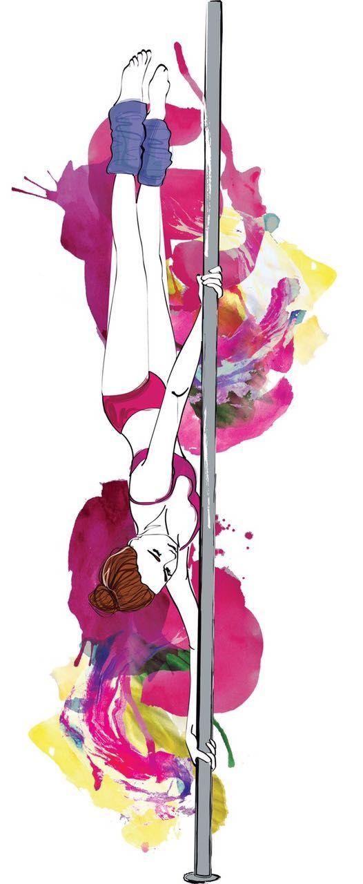 Pole Art Moves Fitness Dancing Pool Dance Body Movement Workout Motivation Yoga
