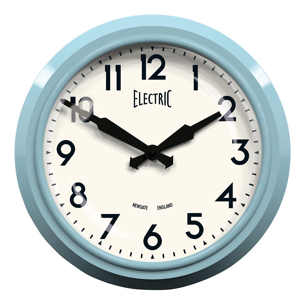 Retro Electric Kitchen Wall Clocks: The 50's Electric Clock Blue