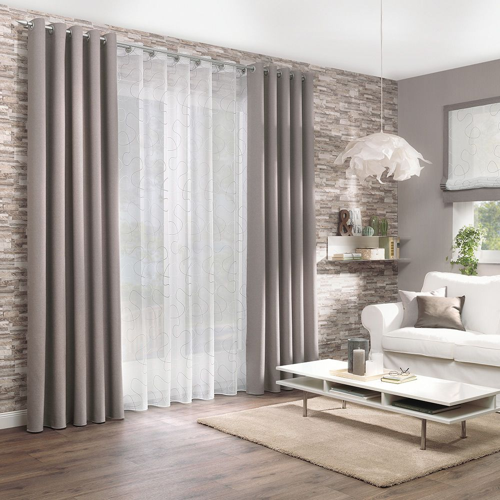 Gardine und Dekostoff für Ihr Wohnzimmer  Gardinen wohnzimmer