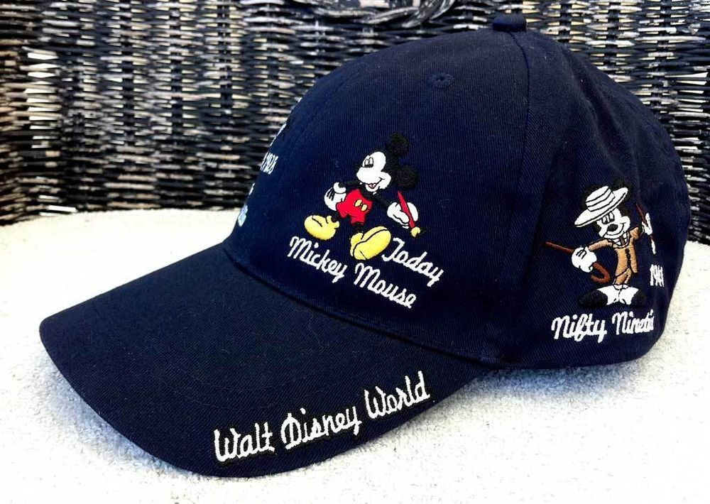 c66bac9f6ae0a Disney Parks Mickey Mouse Through the Years Adult Size Baseball Hat Cap Navy