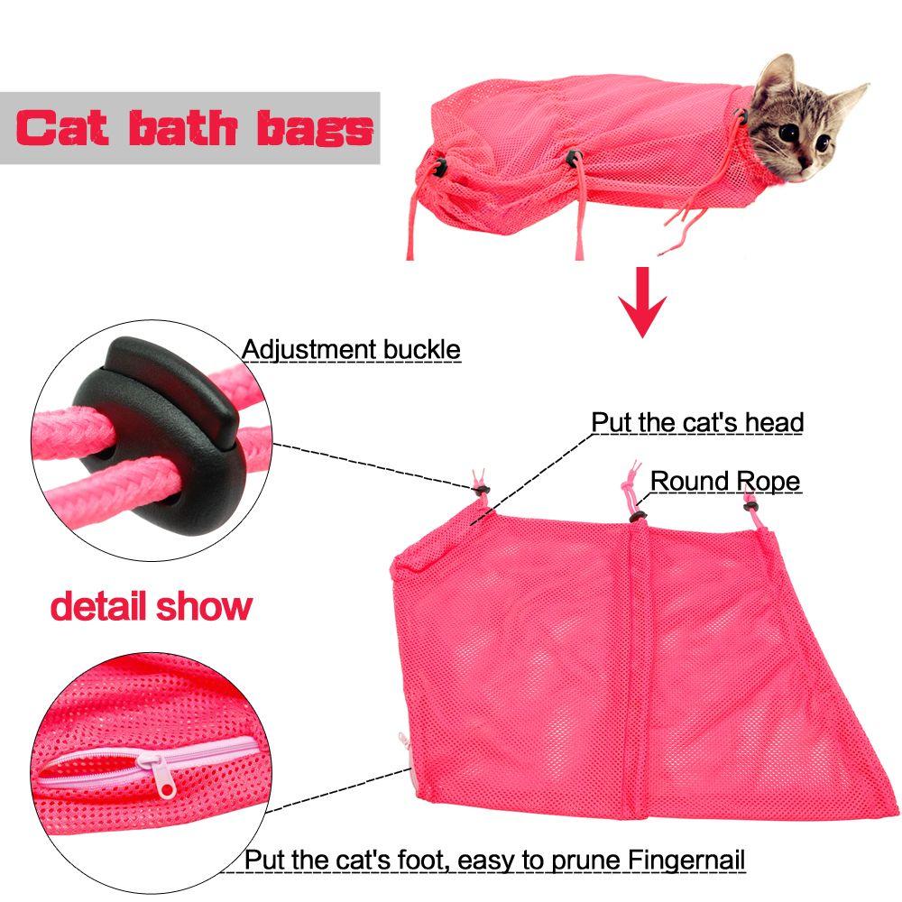 Oh, dear ( New Mesh Cat Grooming Bathing Bag No
