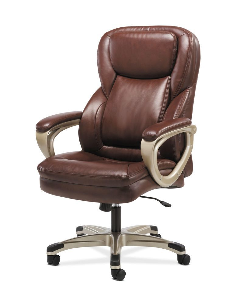 Office Desk Chair Computer Executive High Back With Arms Brown Soft Leather New Hon Executive Executive Chair