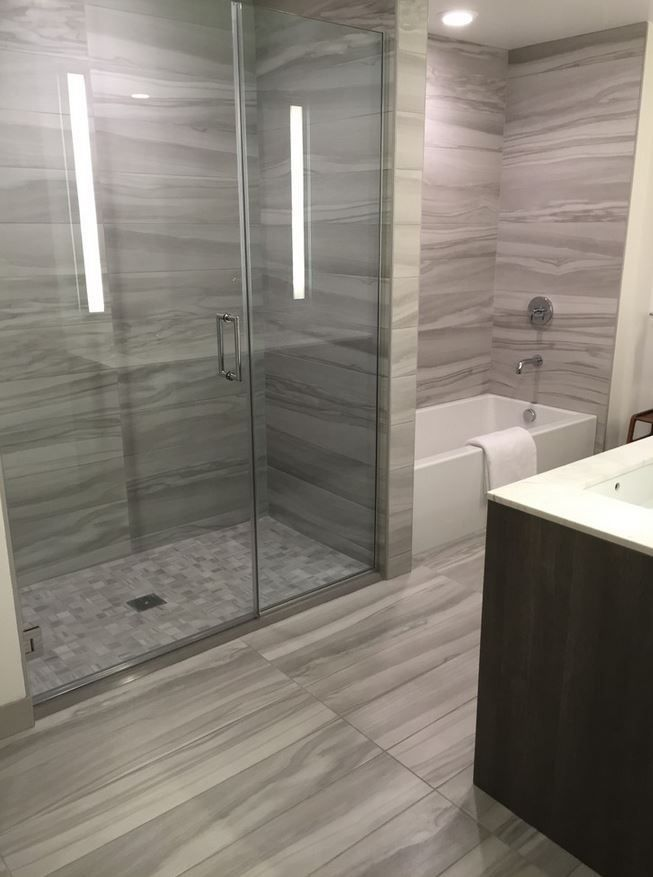 Legend Wood Porcelain Tile: Pearl 4x40 Rectified Tile Room Scene - Portland Direct Tile & Marble