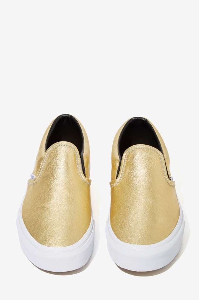 ec36bb148393ca Vans Classic Slip-On Sneaker - Metallic Gold - Shoes