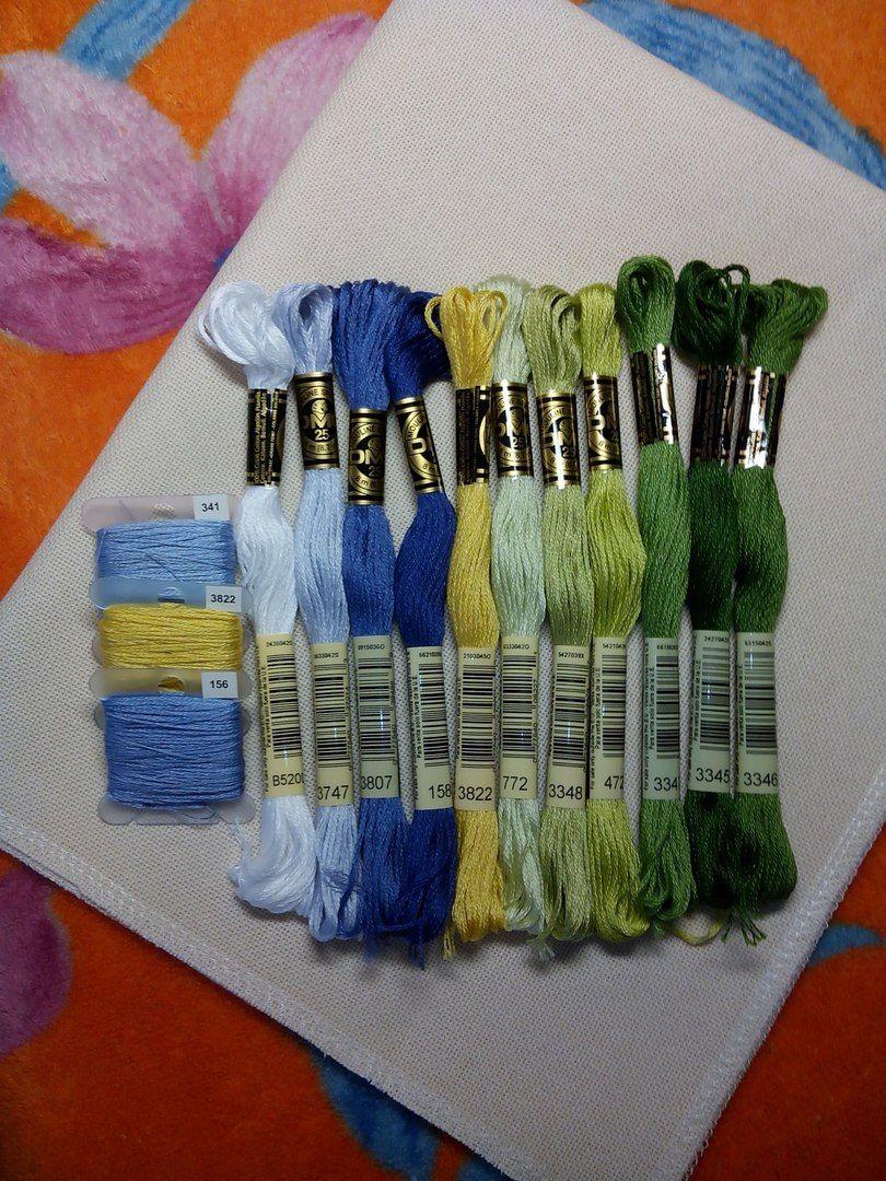 DMC Hilo de Algodón Trenzado Color 158 para el bordado /& Cross Stitch