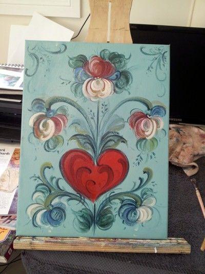 abstract-rosemaling-folk-art --DIY