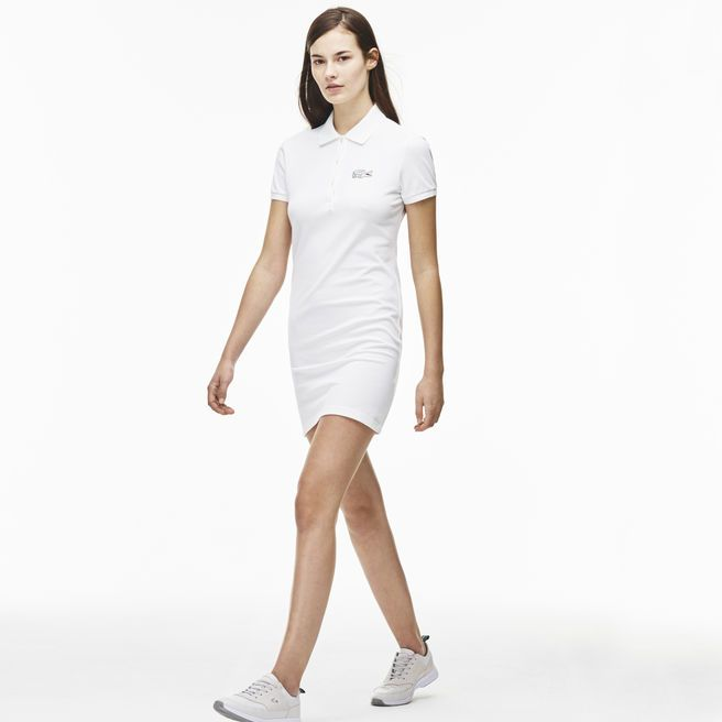 Lacoste Robe Polo Polo Blanche Qwexw vNnm8w0