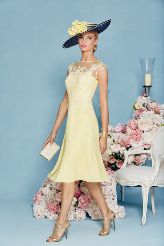 fb122b4e48b Stunning Yellow Mother Of the Bride Dress With Jacket Lace Chiffon Gowns  2016