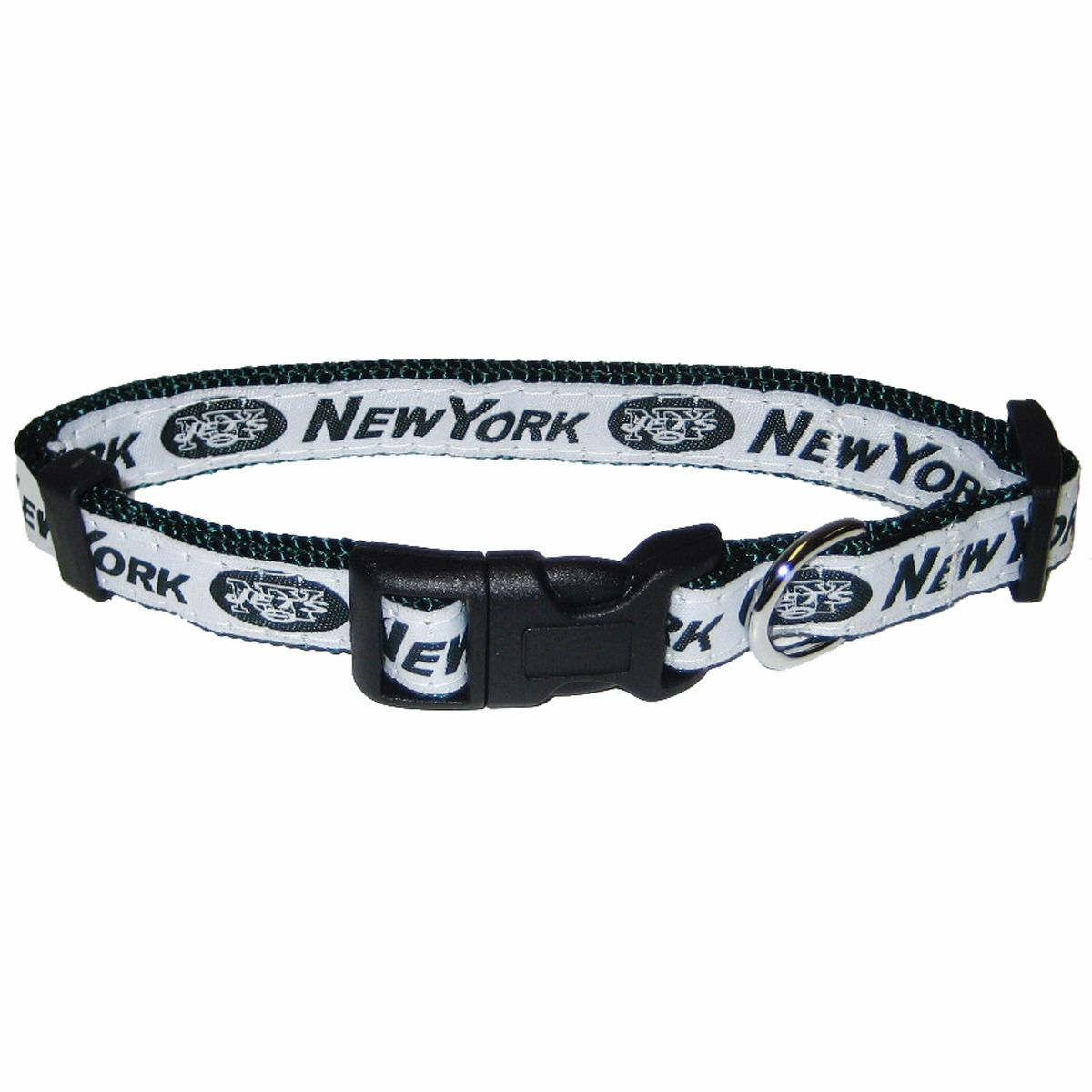 New York Jets NFL Dog Collars from RadioFence.com $16.99 (http://www.radiofence.com/new-york-jets-nfl-dog-collars/)