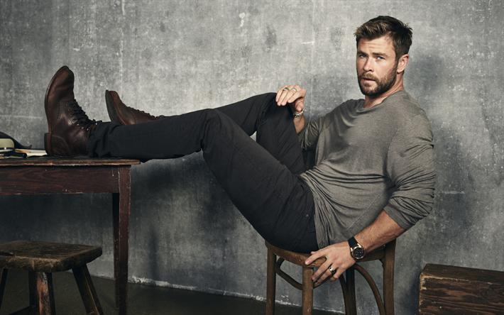 Celebridades Fondos De: Descargar Fondos De Pantalla Chris Hemsworth, Chicos