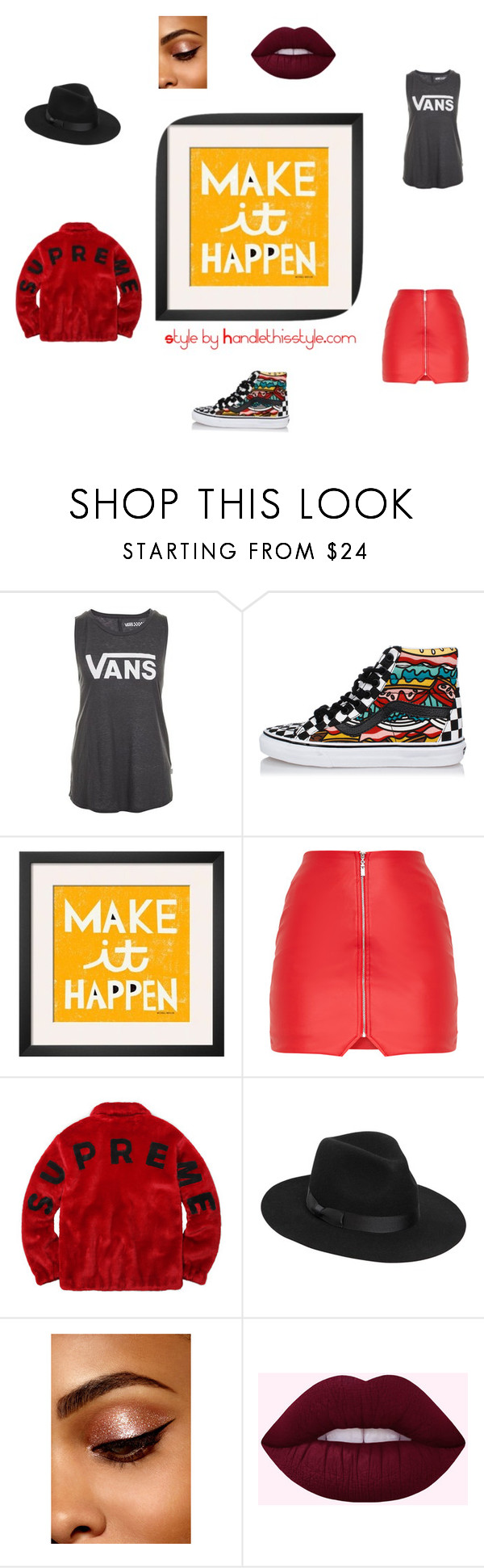 """""""Make It Happen 🙌"""" by handlethisstyle ❤ liked on Polyvore featuring Vans and Lack of Color"""