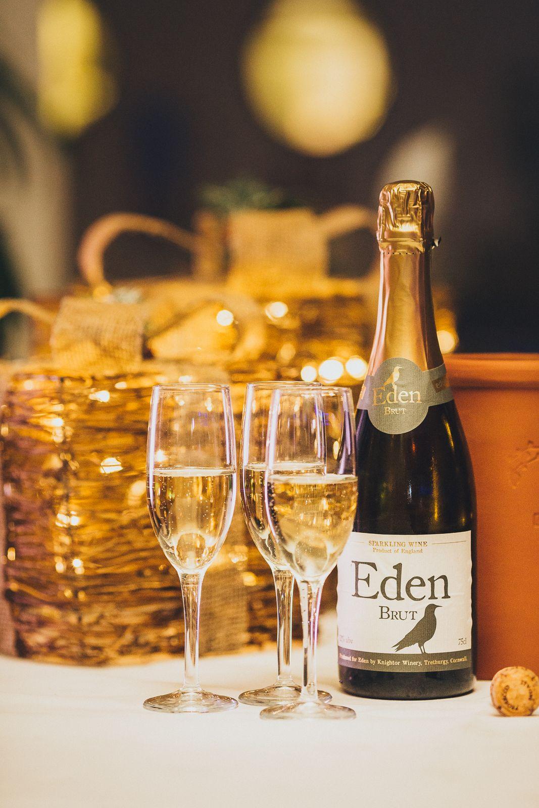 Enjoy a glass of Knightor ' Eden' Brut made less than a
