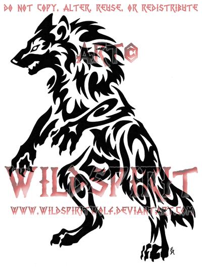 Tribal Werewolf Tattoo Werewolf Tattoo Tribal Animal Tattoos Tribal Animals