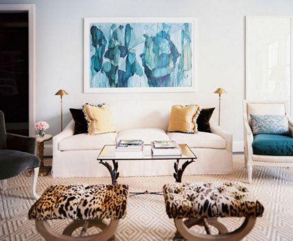 New York Edge One Kings Lane living room Pinterest Blue art