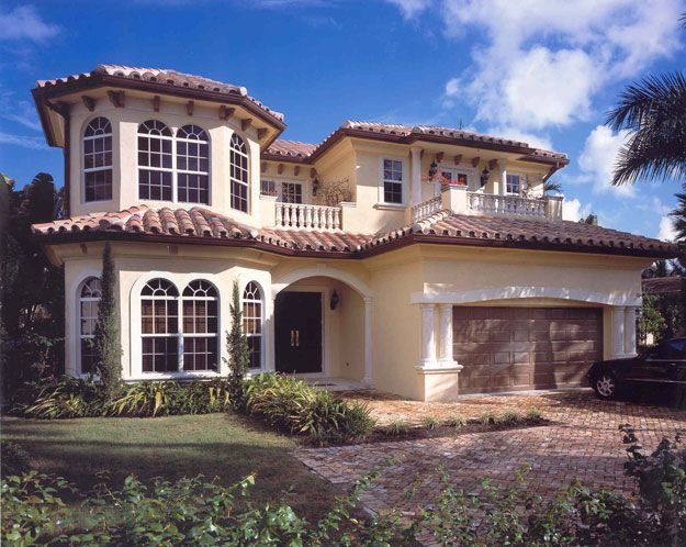 Beautiful Spanish Home Plan With 1 And 2 Story Lanai S Off Back