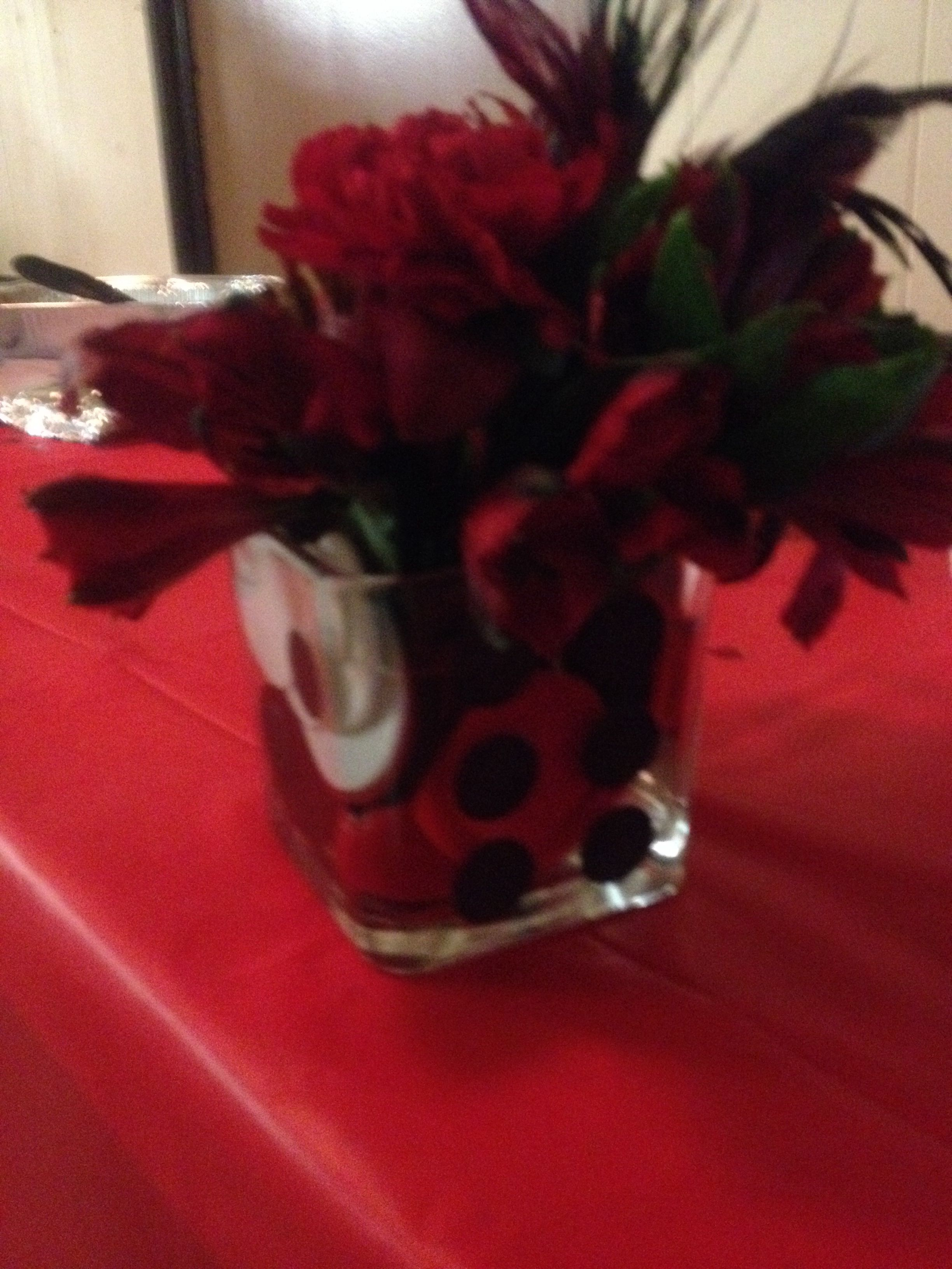 Casino night centerpieceeap dollar tree square candle holders