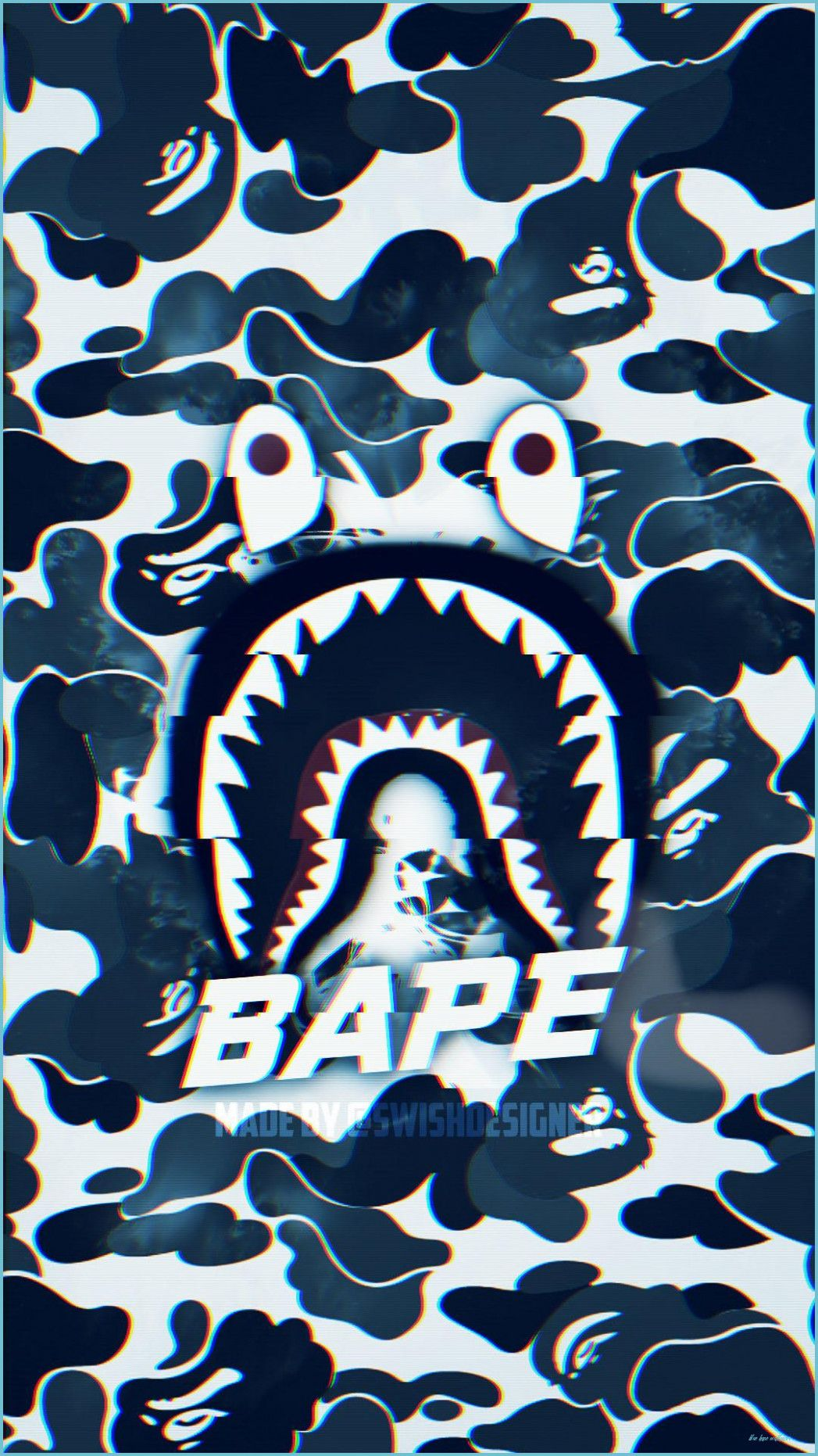 Bape Shark Wallpapers Wallpaper Cave Blue Bape Wallpaper In 2020 Bape Wallpapers Bape Shark Wallpaper Bape Wallpaper Iphone