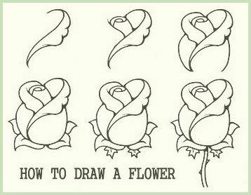 Comment Dessiner Une Rose Facile Etape Par Etape Ok