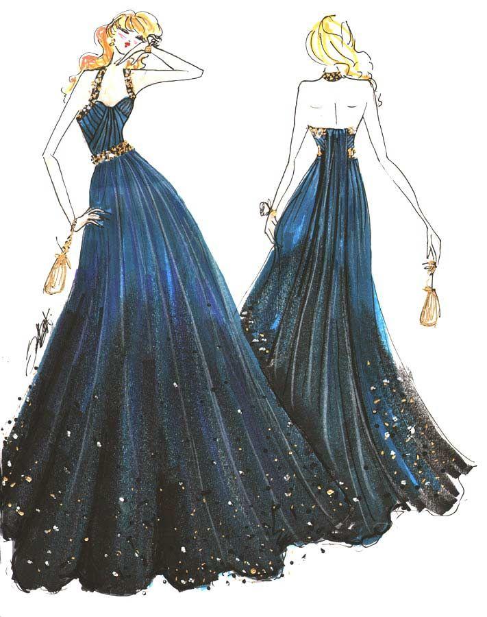 Fancy Drawings of Prom Dresses