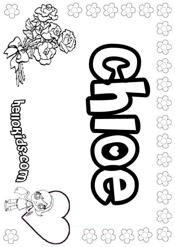 The Name Chloe Coloring Sheets Girls Name Coloring Pages Chloe Girly Name To Color Name Coloring Pages Letter A Coloring Pages Coloring Pages