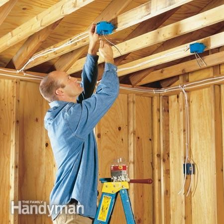 how to wire a garage (unfinished) garage inspiration pinterest garage sub panel wiring diagram garage wiring tips even though the garage is (mostly) wired, may want to do some upgrading eventually