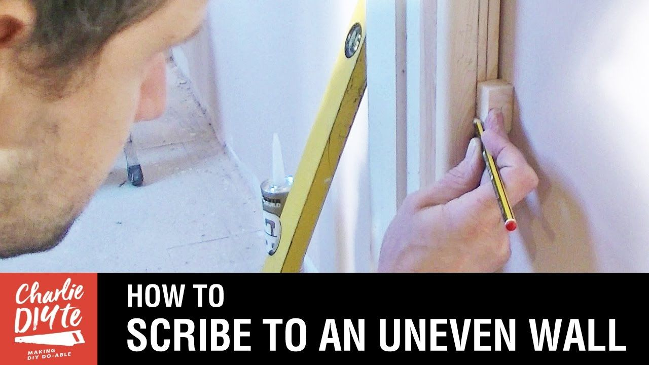 How To Scribe To An Uneven Wall Youtube Scribe Scribe Molding Kitchen Cabinet Crown Molding