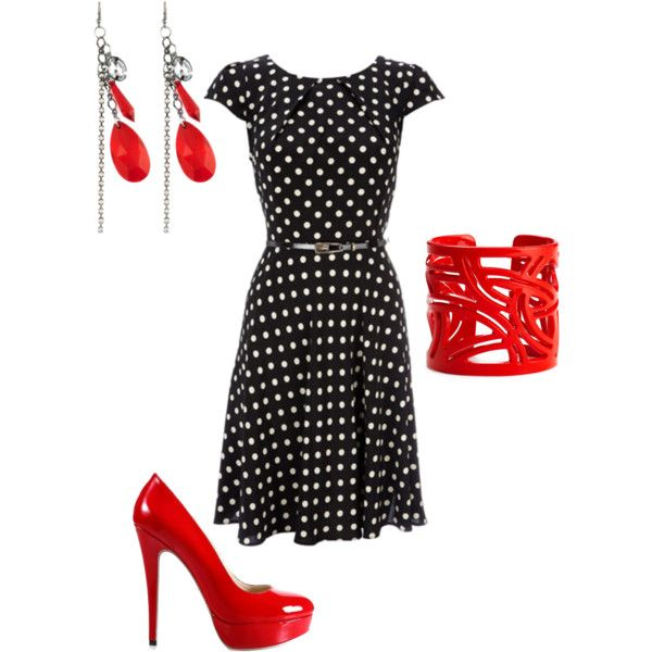 Love the color and the 50s inspiration dress