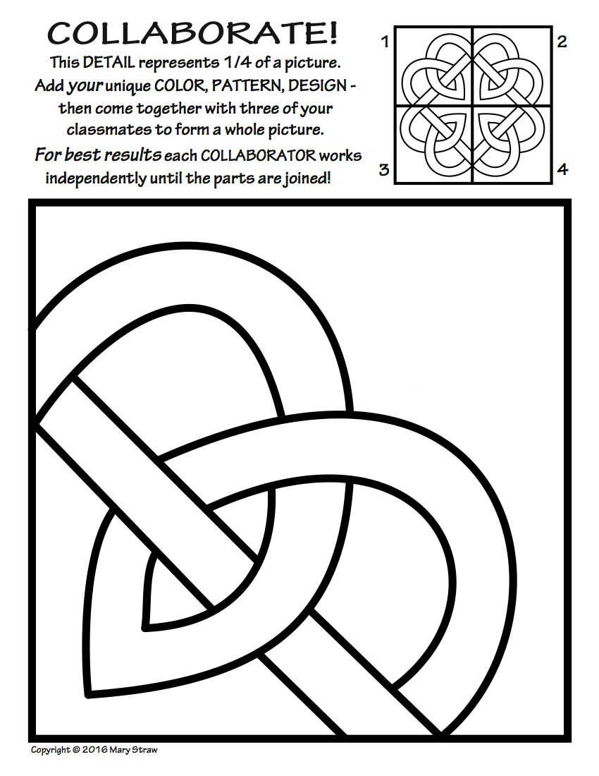 Radial Symmetry COLLABORATIVE Activity Coloring Pages | Activities ...