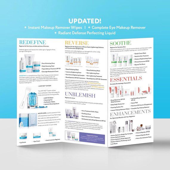 Rodan and Fields Tri-Fold Brochure, Rodan + Fields Products