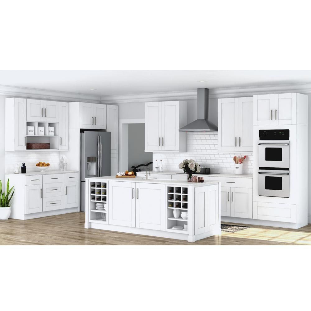 Hampton Bay Shaker Assembled 36x34 5x24 In Farmhouse Apron Front Sink Base Kitchen Cabinet In Dove Gray Ksbd36 Sdv The Home Depot In 2021 Trendy Farmhouse Kitchen Apron Front Sink Grey Cabinets