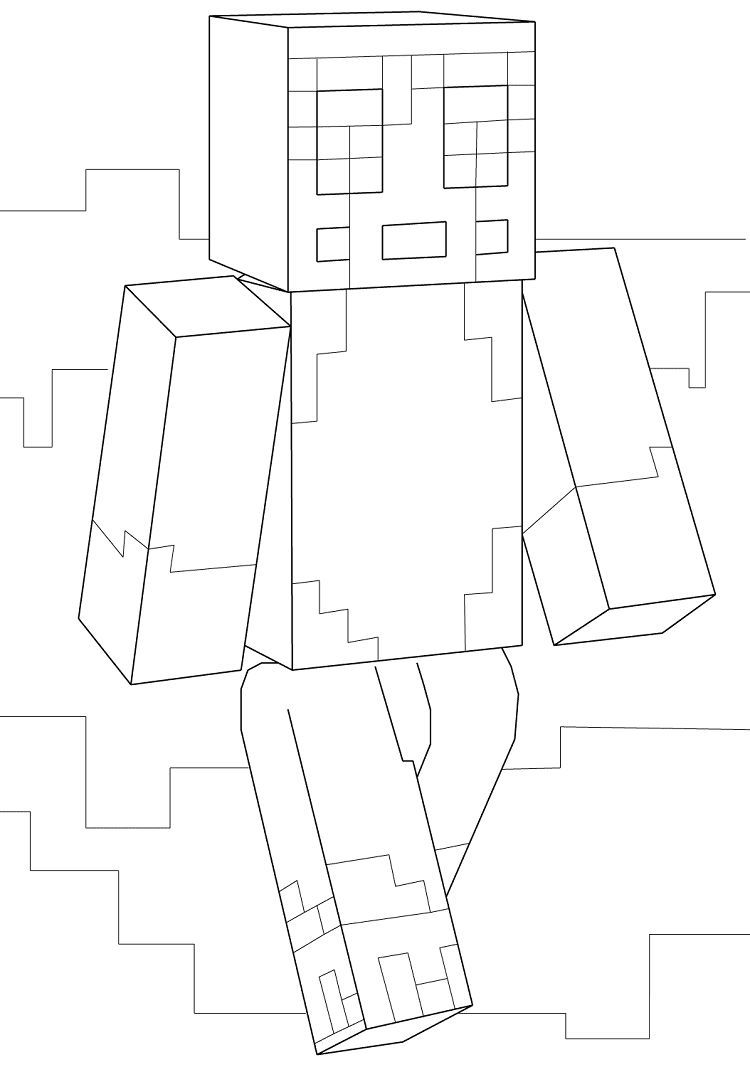 Minecraft Coloring Pages Of Stampylongnose Minecraft Stampy Minecraft Coloring Pages Coloring Pages For Kids