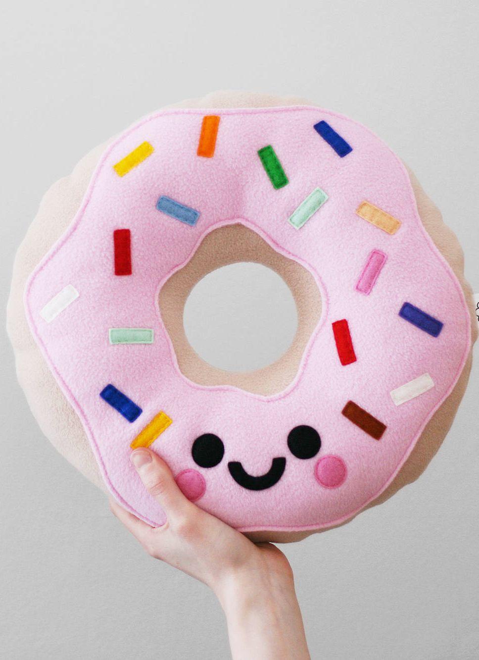 Now That S One Happy Doughnut Pillow Doughnut Pillow Donut Pillow Pink Candy