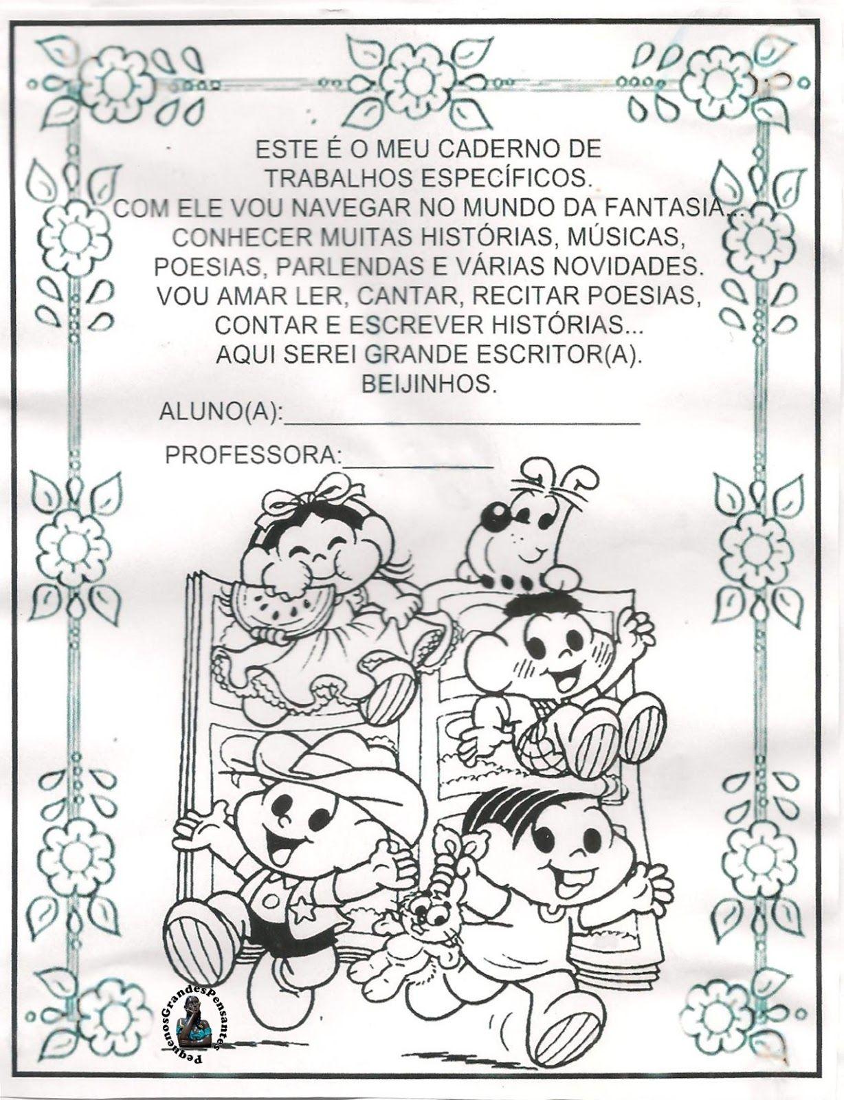 Capa Inicial Para Cadernos Da Educacao Infantil Com Imagens