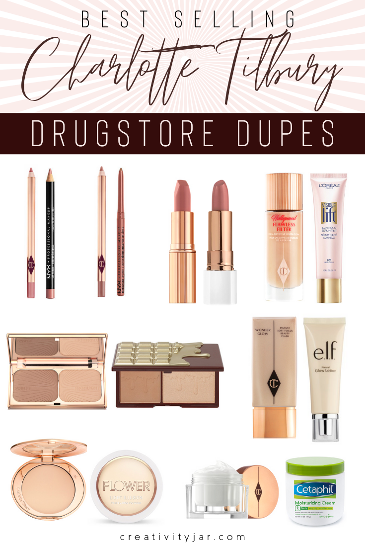 Affordable Charlotte Tilbury Dupes - Creativity Jar