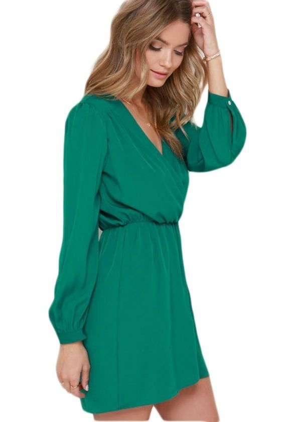 364ba799bc1 Shopo.in : Buy That's A Wrap Long Sleeve Dress online at best price ...